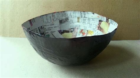 How To Make A Bowl Out Of Paper Mache - how to make a balloon mod podge paper bowl diy crafts