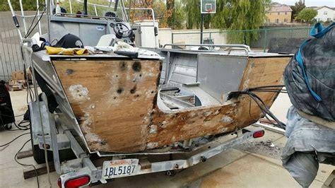 rebuild transom on aluminum boat 1989 bayrunner 22 transom rebuild bloodydecks