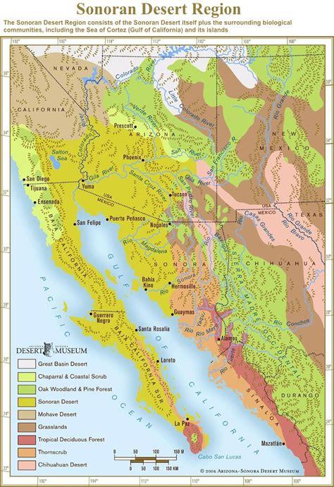 map of deserts sonoran desert sonoran desert region