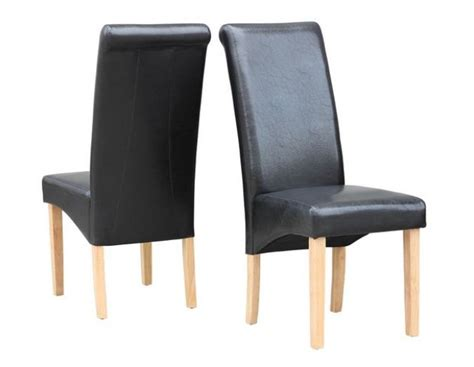 high back dining chairs rhinestone wood black white faux leather dining chairs high back set of 2 black kms direct