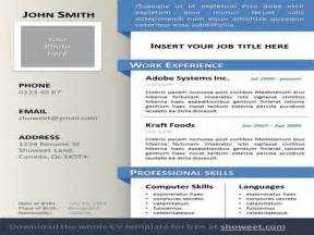 Powerpoint Resume Templates by Curriculum Vitae Resume Powerpoint Template Authorstream