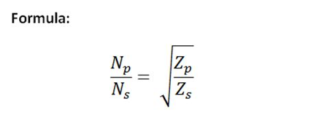 transformer percent impedance formula rf transformer calculator