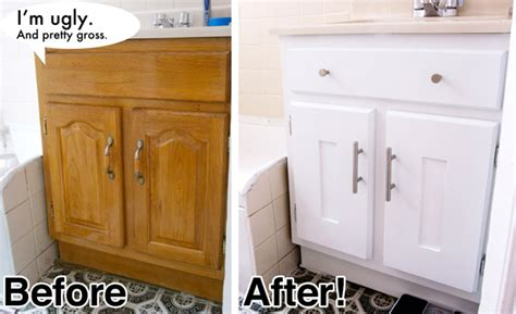 Diy Bathroom Vanity Makeover Diy Bathroom Vanity Cabinet Makeover Vanity What A Dumb Word For That Janky Cabinet Your