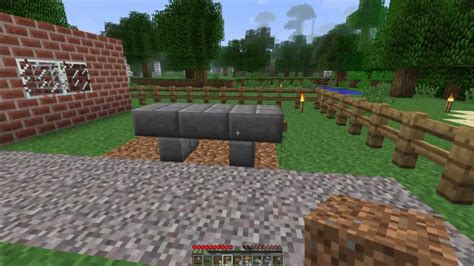 how to make a bench in minecraft minecraft furniture