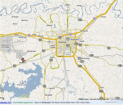 texarkana texas map top