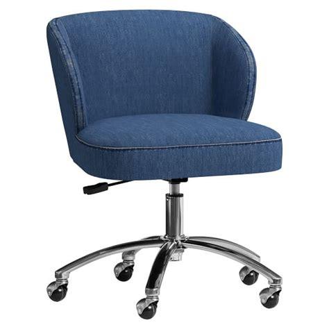 sherpa wingback desk chair washed denim wingback desk chair pbteen