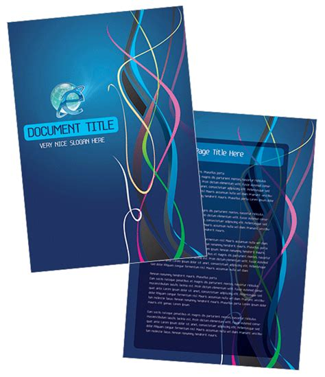 front page word template 7 report cover page templates for business documents word