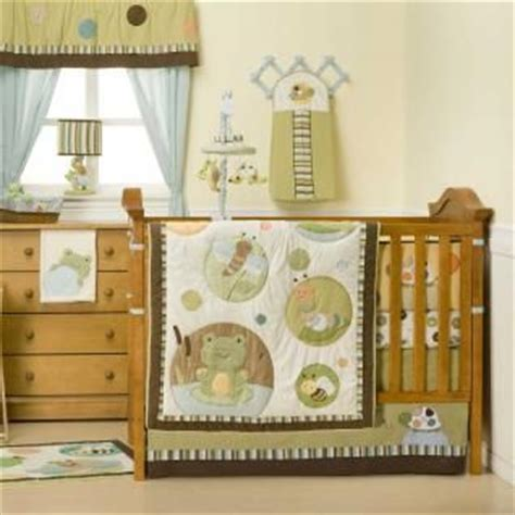 frog crib bedding green and brown neutral baby crib bedding frog bug
