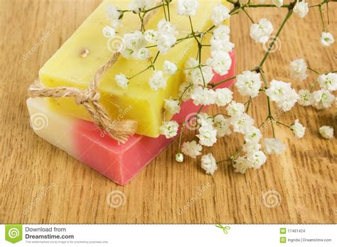 Handmade Herbal Soap - aromatic handmade herbal soap stock images image