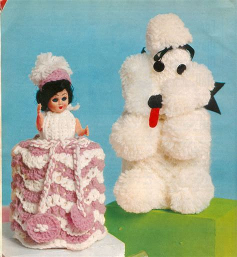 toilet roll cover knitting pattern vintage household items knitting patterns available from