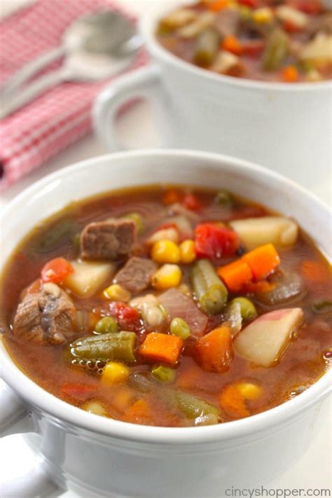 best vegetable soup recipe best vegetable beef soup