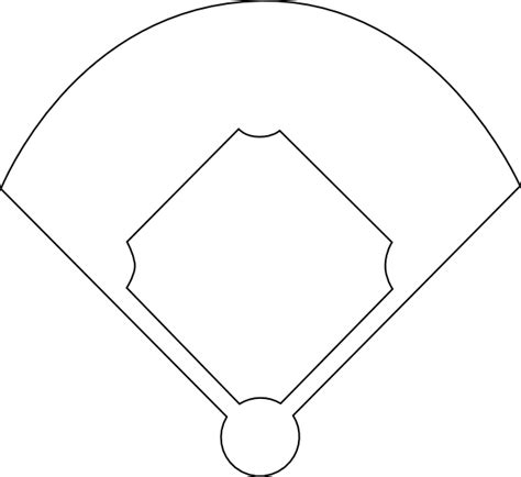 baseball position template blank baseball field diagram clipart best