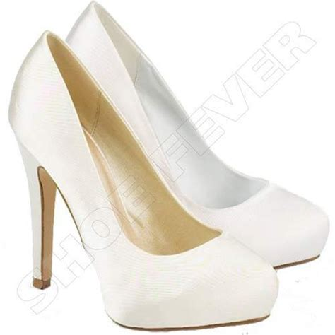 Womens White Wedding Shoes by Womens Wedding Shoes High Heels Satin Bridal White