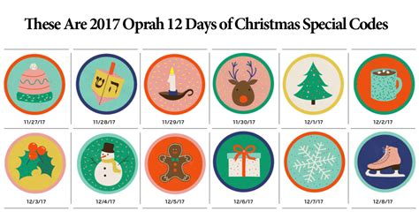 The 12 Day Giveaway Oprah - all 2017 oprah 12 days of christmas special codes winzily