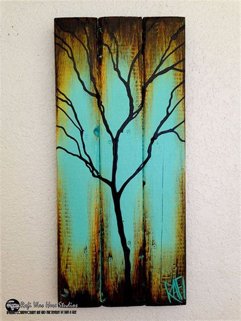 tree painted on wood ideas one more form of using wood paint on it bored