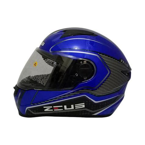 Helm Zeus Z811 Al17 Black jual zeus zs 811 helm yamaha blue al17 black