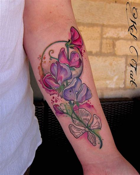 sweet pea tattoo sweet pea idea pinteres