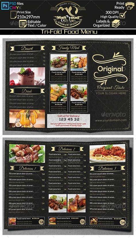 food menu templates graphicriver food menu template