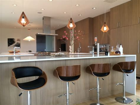 kitchen bar lighting mid century modern pendant lights and bar stools modern