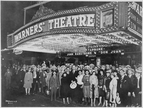 s day theaters file nighters posing for the outside the