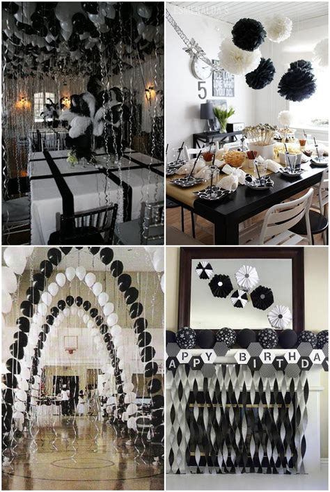 themes black white black and white graduation party ideas party pinterest