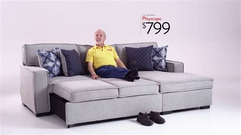 bobs furniture sectional sofas playscape sectional bob s discount furniture youtube