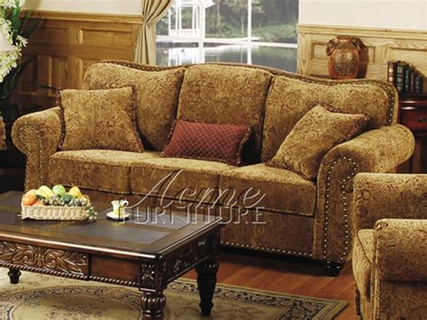 Chenille Sofa 816 by 2 Sofa Set By Acme 5870s