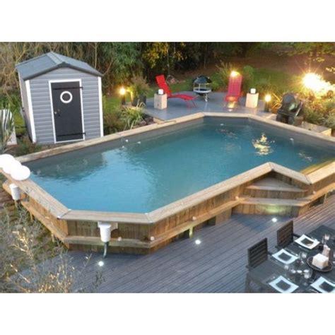 Prix Piscine Hors Sol Bois 822 une piscine semi enterr 233 e un bon compromis entre deux