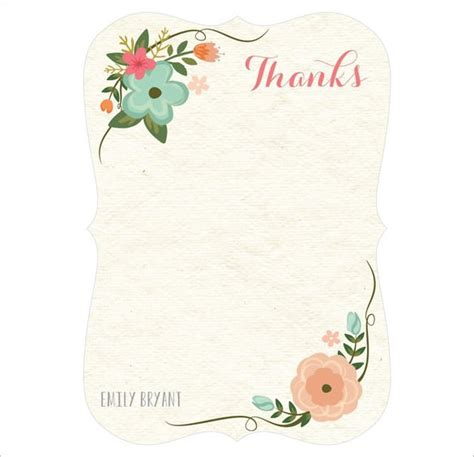 thank you card template psd 30 personalized thank you cards free printable psd eps