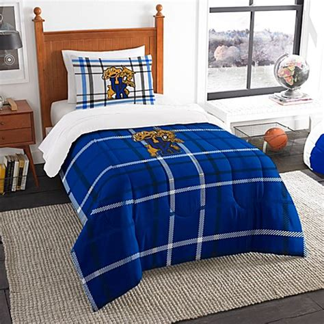 Buy University Of Kentucky Full Embroidered Comforter Set Of Kentucky Bedding Sets