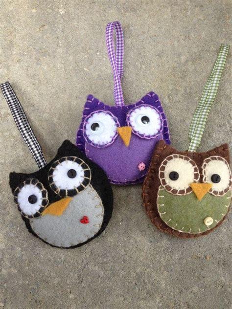 felt owl pattern pinterest owl felt ornament www etsy com shop patsfabriccreations