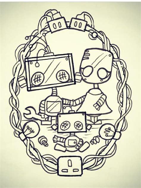 tattoo robot couple best 25 robot tattoo ideas on pinterest space doodles