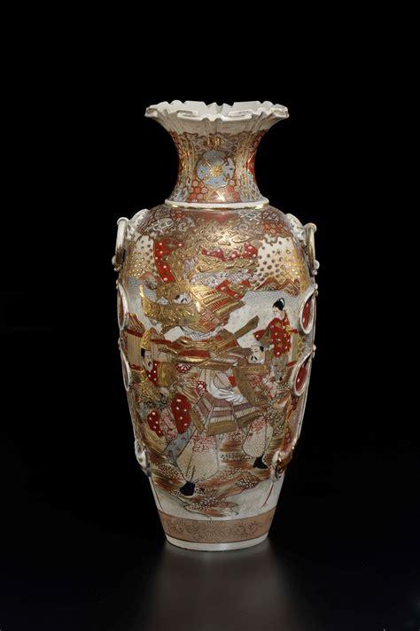 vaso porcellana vaso in porcellana satsuma con raffigurazioni di