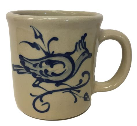 fancy mugs artisan fancy bird mug wing stoneware pottery