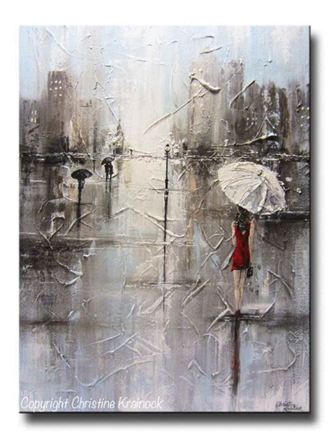 painting greys original abstract painting umbrella white dress grey contemporary by
