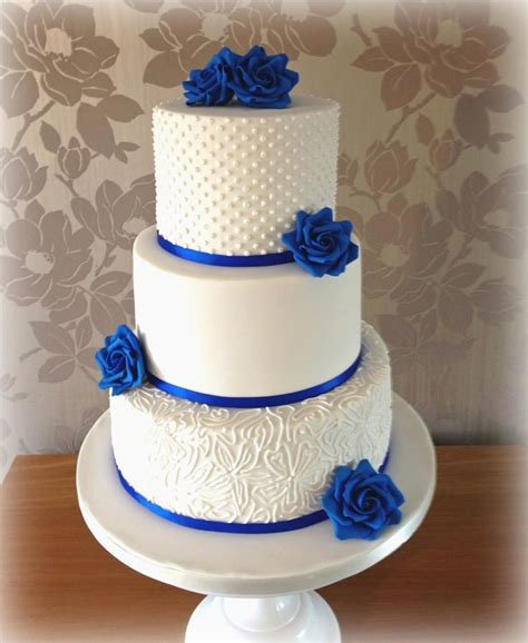 Wedding Cake Blue by Royal Blue Wedding Cake Cake By Cakes By Sian Cakesdecor