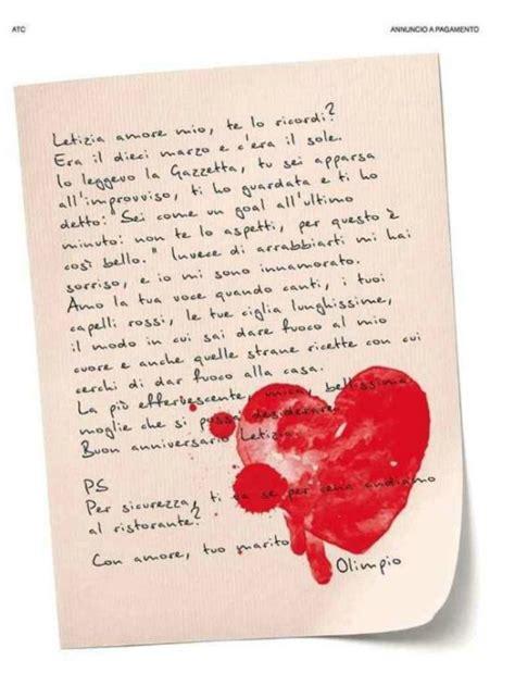 lettere anniversario di matrimonio compra una pagina corriere e scrive alla moglie ti