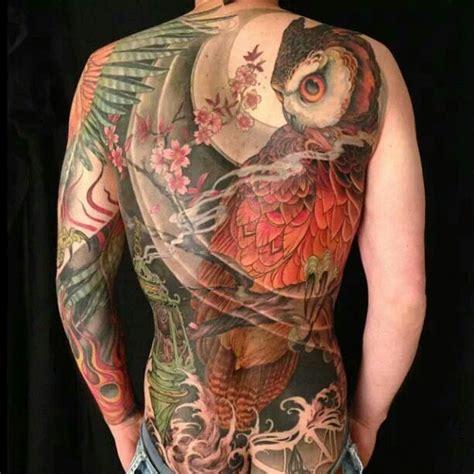 owl tattoo back piece jeff gogue owl tattoo back piece tats pinterest