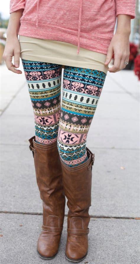 Pattern Leggings Ideas | currently loving winter fashion the yooper girl