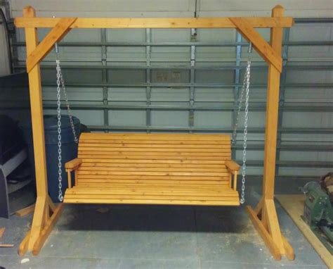 bench swing frame plans 10 free porch swing plans free porch swing plans how
