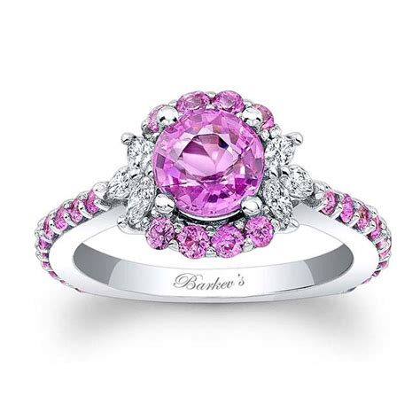 Pink Sapphire Engagement Rings by Barkev S Pink Sapphire Engagement Ring Psc 7930lps Barkev S