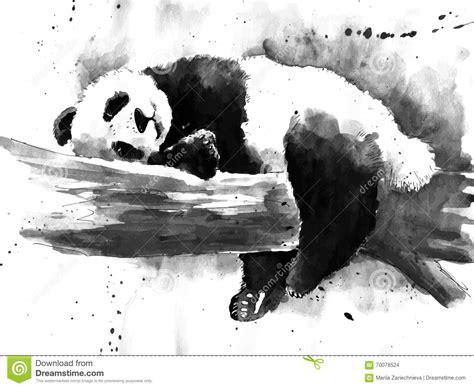 imagenes japonesas en blanco y negro dibujo blanco y negro de la panda de la acuarela