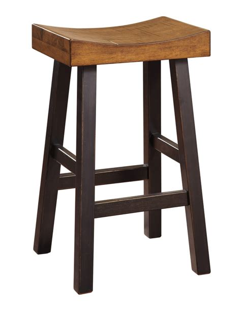 wooden bar bench glosco two tone tall stool set of 2 d548 030 bar