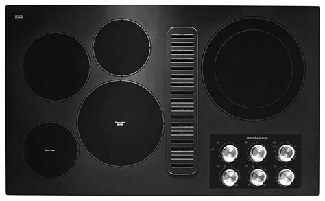 36 inch downdraft electric cooktop kitchenaid 36 quot electric downdraft cooktop w 5 elements