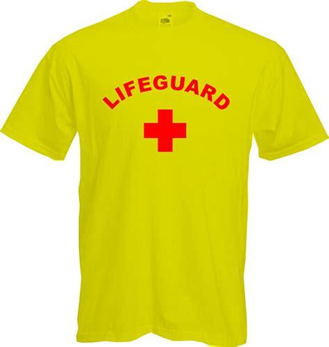 Baywatch Tshirt lifeguard t shirt swimming fancy dress baywatch