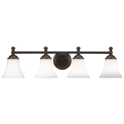 4 light vanity light bronze hton bay crawley 4 light rubbed bronze vanity light
