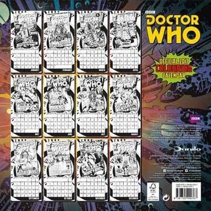 Doctor Who Desk Calendar by Pre Order Official Doctor Who 2017 Calendars Available