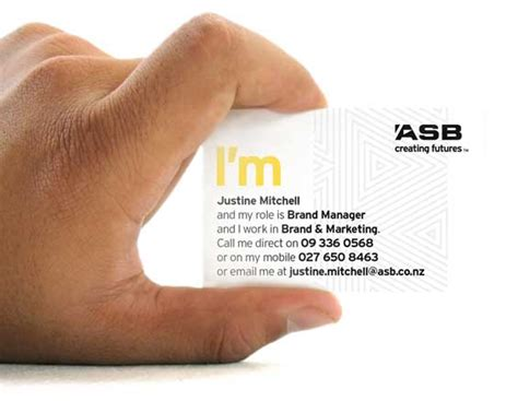 business card bank hello i m the new asb