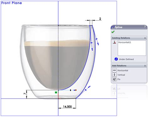 solidworks tutorial glasses how to model a double walled glass in solidworks