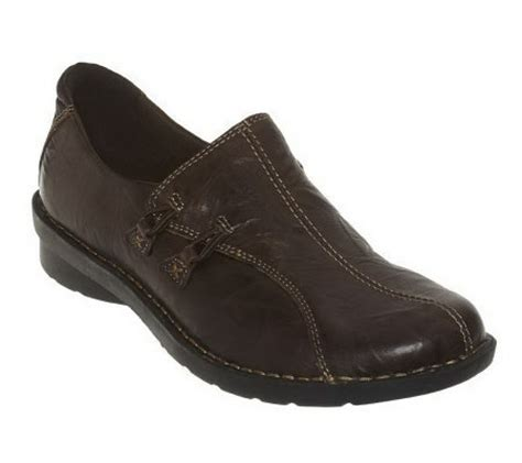 qvc clarks shoes clarks bendables boston leather slip on shoes page